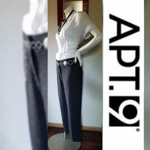 Apt. 9 Trendy Tweed Tailored Crop Pants Trousers